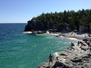 Sparkling waters of Bruce Peninsula