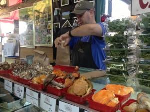 Fungi stall at Jean Talon market