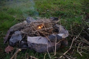 Before kindle was an e-book, it was a way of starting a campfire. The irony that paperbacks will become kindling...