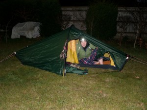 Being an intrepid explorer I tested out my new tent in my parents back garden