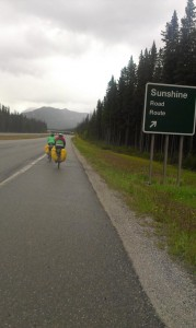 Sarcastic signpost on the way to Canmore.