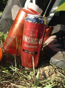 Worthwhile reason #2: local Muskoka beer. I had this can entirely to myself.