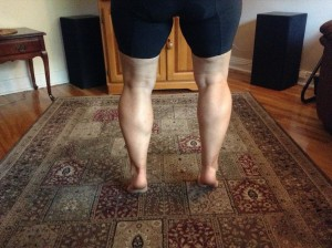 3 cycling classes later... My legs in Montreal.