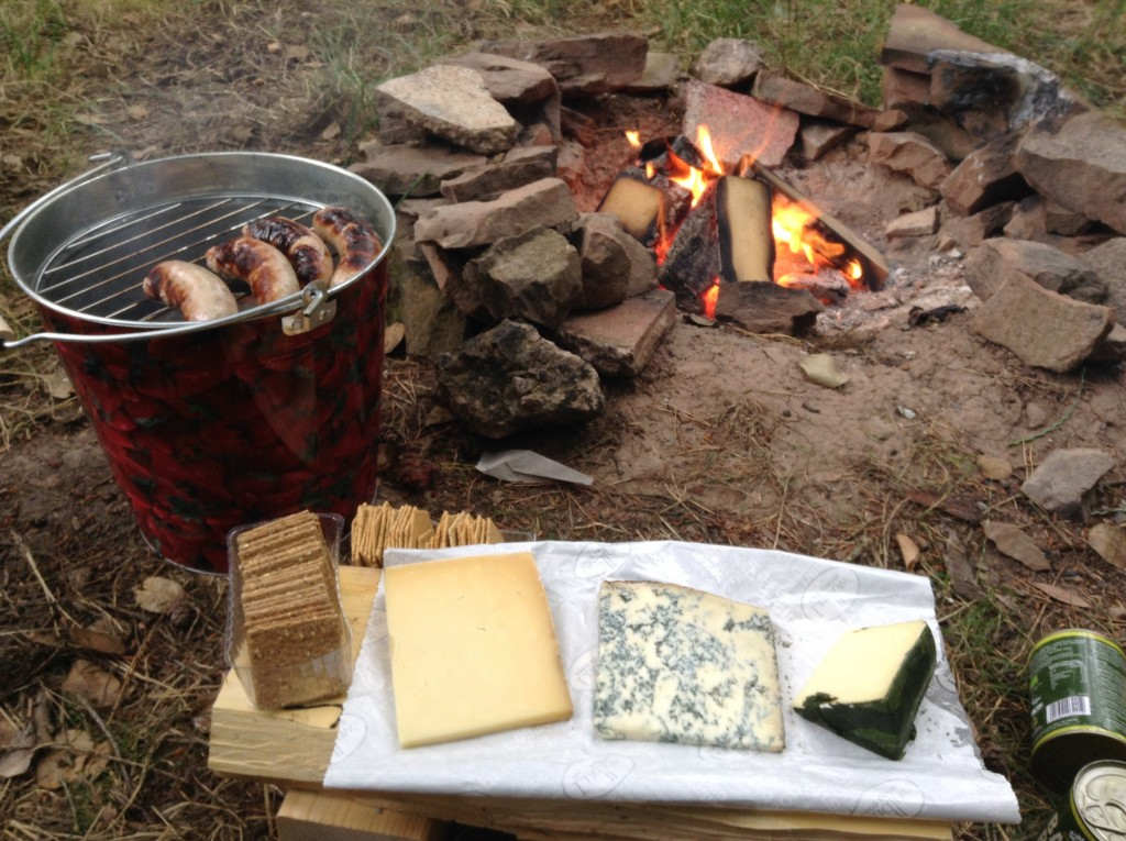 Part of the five course campsite meal...